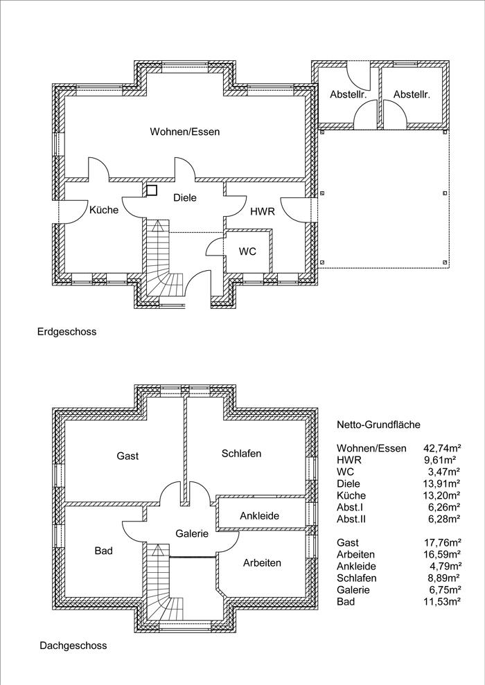Grundrisse Haus 18