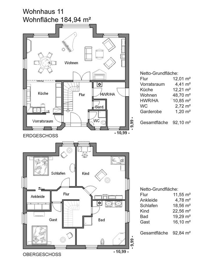 Grundrissplan Variante 11
