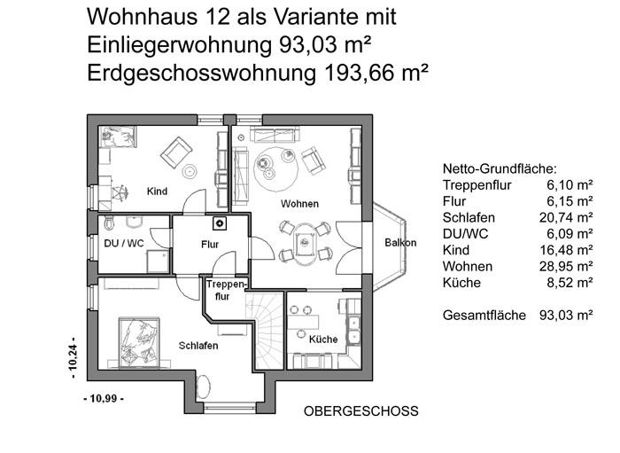Grundrissplan Variante 12