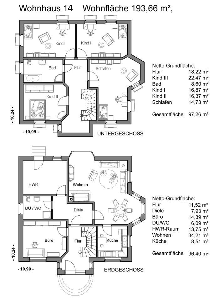 Grundrissplan Variante 14