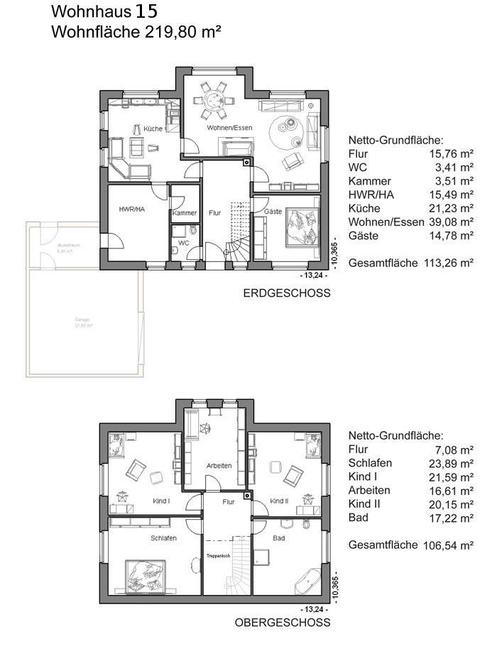 Grundrissplan Variante 15
