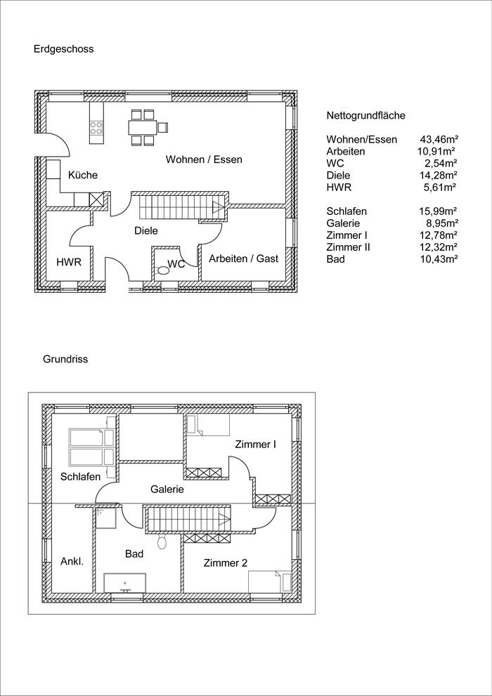 Grundrissplan Variante 17